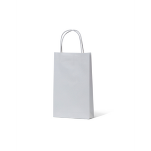 White Kraft Extra Small Paper Carry Bags
