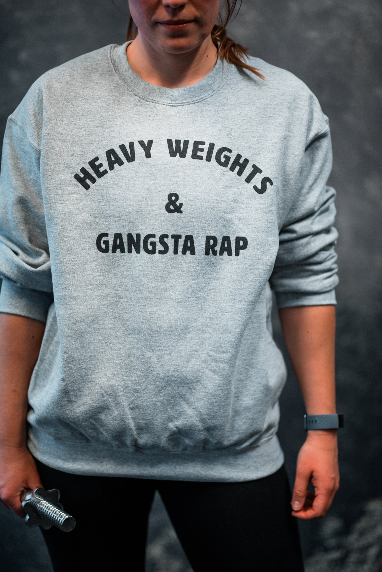 Heavy Weights & Gangsta Rap Women's Sweatshirt Grey-Dumb & Dumbbell