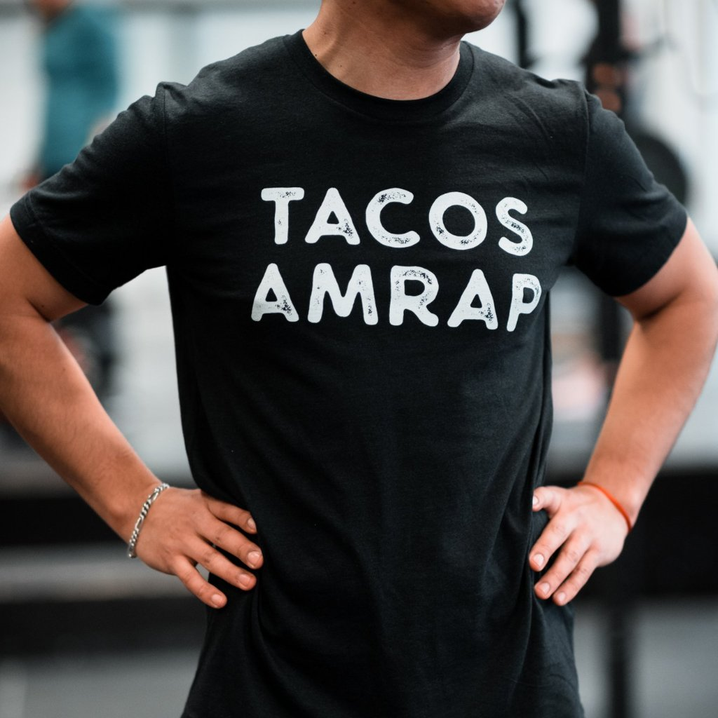 Tacos Amrap Men's T-Shirt Black-Dumb & Dumbbell