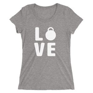 Love Women's T-shirt Grey-Dumb & Dumbbell
