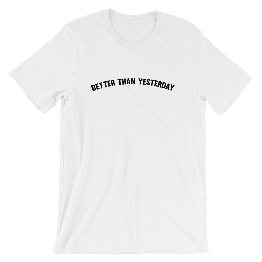Better than yesterday Men's T-Shirt White-Dumb & Dumbbell