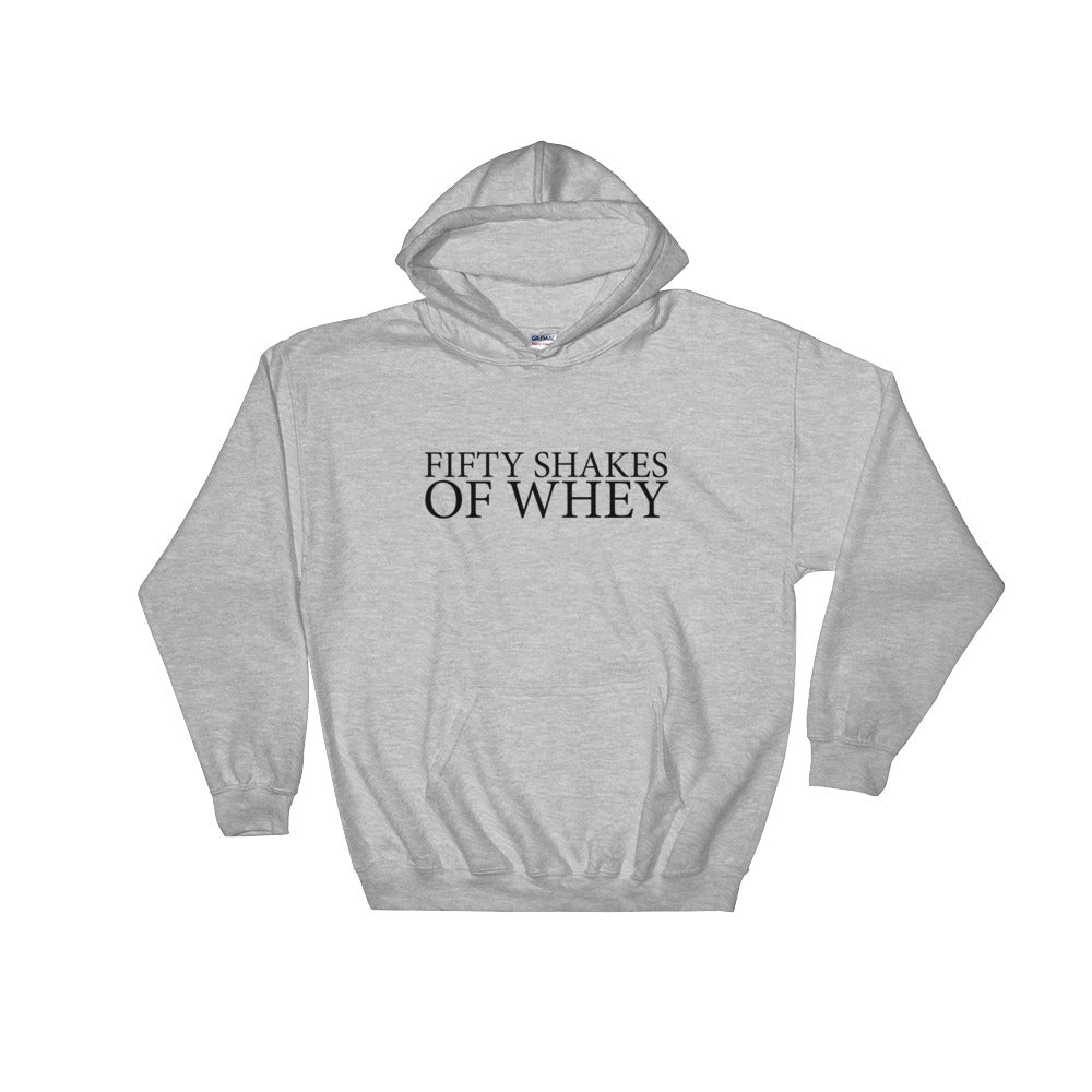 Fifty Shakes of Whey Women's Hoodie Grey-Dumb & Dumbbell