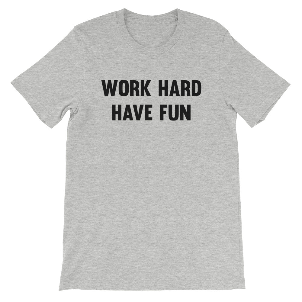 Work Hard - Have Fun Men's T-Shirt Grey-Dumb & Dumbbell