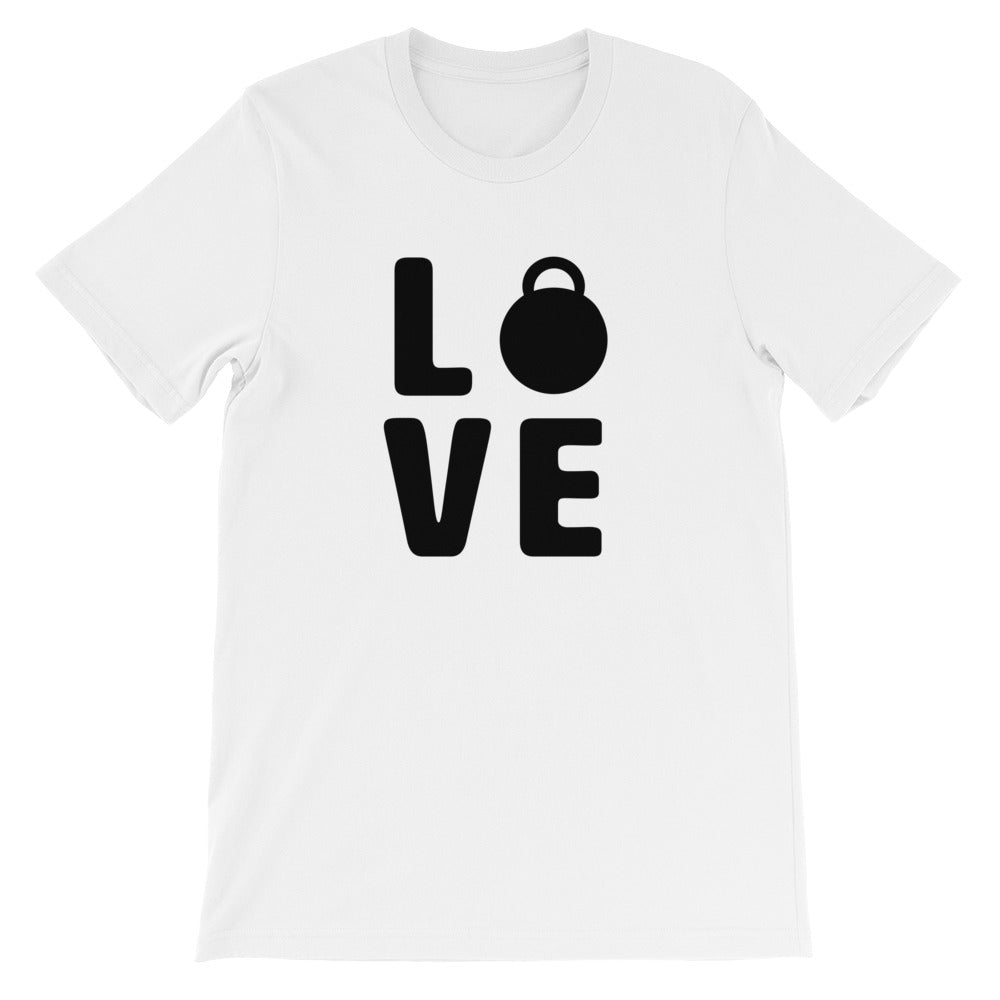 Love Men's T-Shirt White-Dumb & Dumbbell
