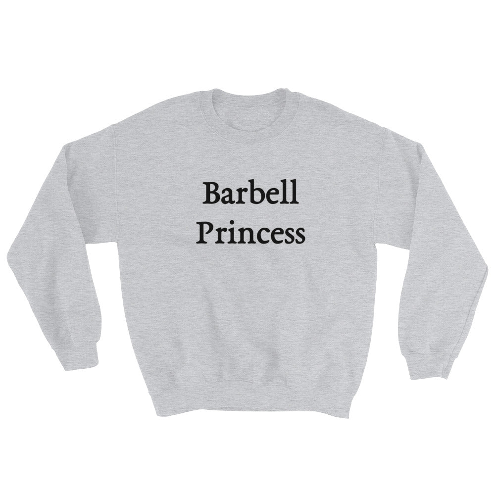Barbell Princess Women's Sweatshirt Grey-Dumb & Dumbbell