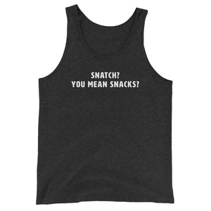 Snatch? You mean snacks? Women's Tank Top Grey-Dumb & Dumbbell