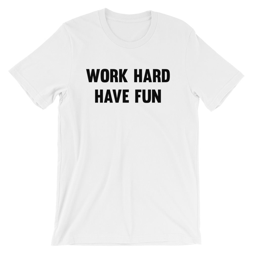 Work Hard - Enjoy the Gainz Men's T-Shirt White-Dumb & Dumbbell