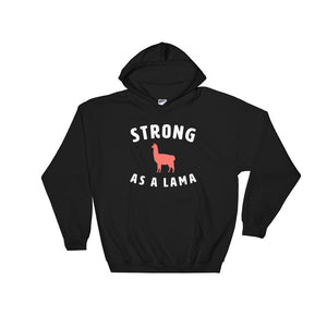 Strong as as Lama Hoodie Black-Dumb & Dumbbell