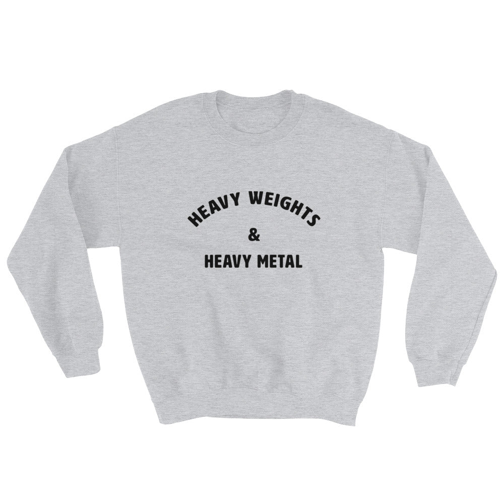 Heavy weights & Heavy Metal Men's Sweatshirt Grey-Dumb & Dumbbell