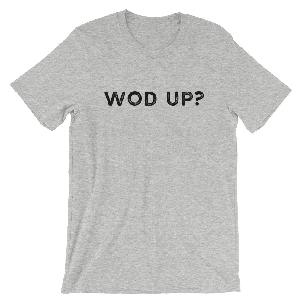 WOD UP? Men's T-Shirt Grey-Dumb & Dumbbell