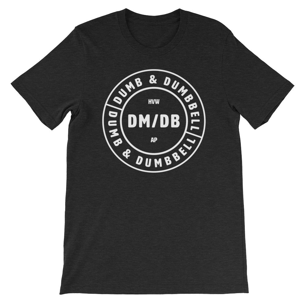 Dumb & Dumbbell Stamp Men's T-Shirt Black-Dumb & Dumbbell