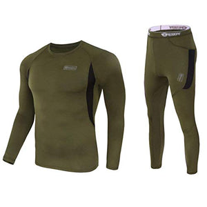 f8a48b0b0a7 WINDCHASER Men s Winter Thermal Underwear Camouflage Set of Long Sleeve Top  Long Johns for Mountaineering