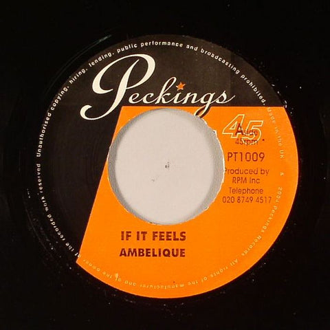 "Ambelique / Kushi - If It Feels / Jah Is There 7"" Vinyl"