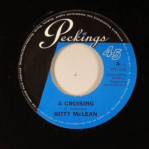 "Bitty McClean  - A Cruising / Baby Tonight 7"" Vinyl"