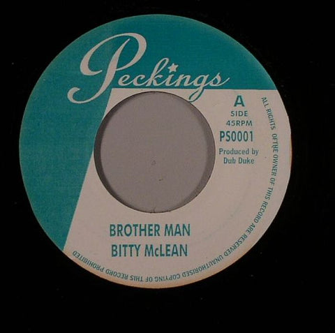 "Bitty McLean - Brother Man / Sound Boy Killer 7"" Vinyl"
