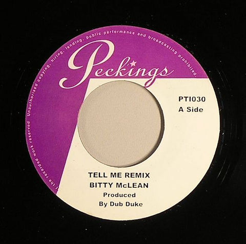 "Bitty McLean / Kelly Makeada - Tell Me (remix) / If 7"" Vinyl"