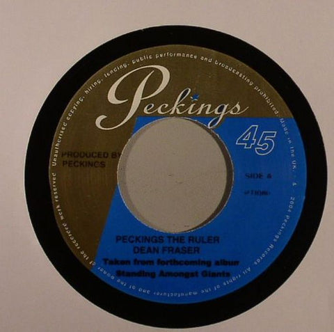 "Dean Fraser - Peckings The Ruler / Kingston Nights 7"" Vinyl"
