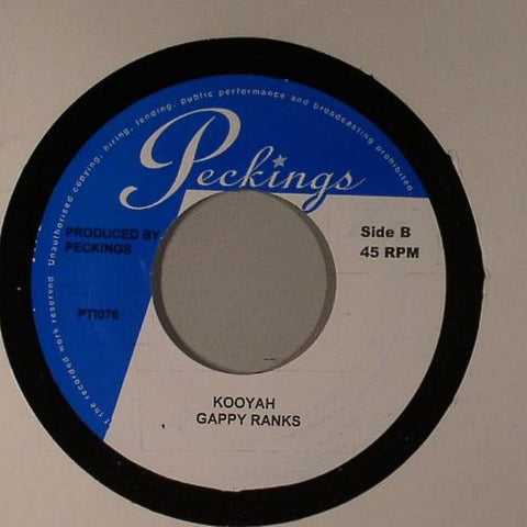 "Gappy Ranks / Ras Demo - Kooyah / No Slackness 7"" Vinyl"