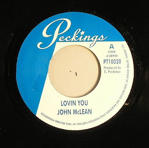 "John McLean / Rudie Rass - Loving You / Sweet Like Zion 7"" Vinyl"