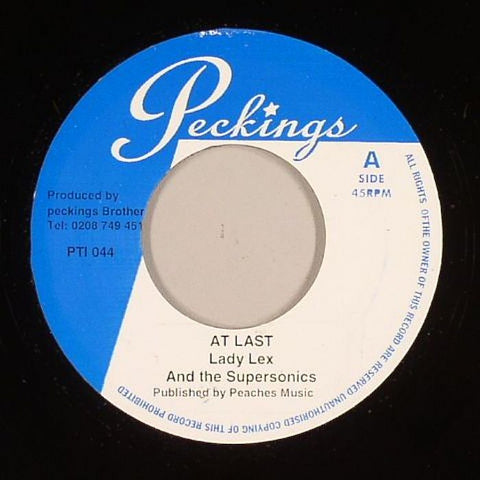"Lady Lex & The Supersonics / Supersonics - At Last / Everlasting (version) 7"" Vinyl"