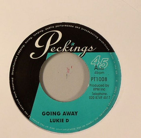 "Lukie D / Joseph Cotton - Going Away / Loving You Want 7"" Vinyl"