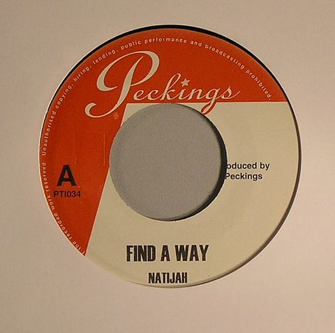 "Natijah - Find A Way / Find A Way (remix) 7"" Vinyl"