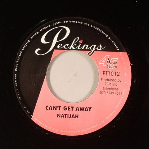 "Natijah / T McCook & Supersonics - Can't Get Away / Version 7"" Vinyl"