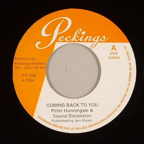 "Peter Hunnigale & Sound Dimension - Coming Back To You / This Is Life 7"" Vinyl"
