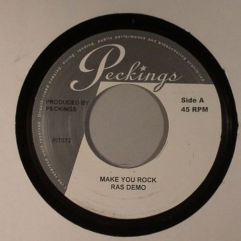 "Ras Demo / Claude Daroux - Make You Rock / Love & Devotion 7"" Vinyl"