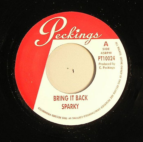 "Sparky / Tippa Irie - Bring It Back / Wine Up Your Body 7"" Vinyl"