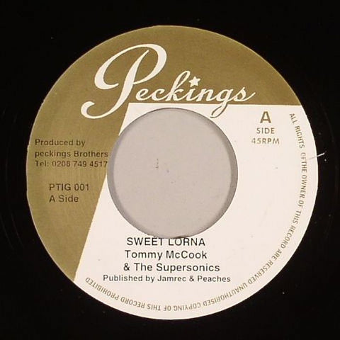 "Tommy McCook & The Supersonics - Sweet Lorna / Black River 7"" Vinyl"