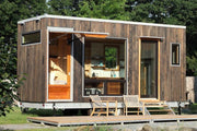 Photo of a towable Tiny Home by New York Based startup, Cubist Engineering, known as 'The Sturgis'