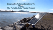Photo of solar panel on side river