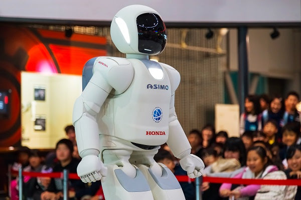 Photo of the humanoid robot Asimo