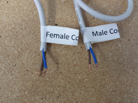 Photo of wires with strip the ends of the wires