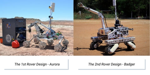 Photo of Mars rover the Aurora (2017) and the Badger (2018)