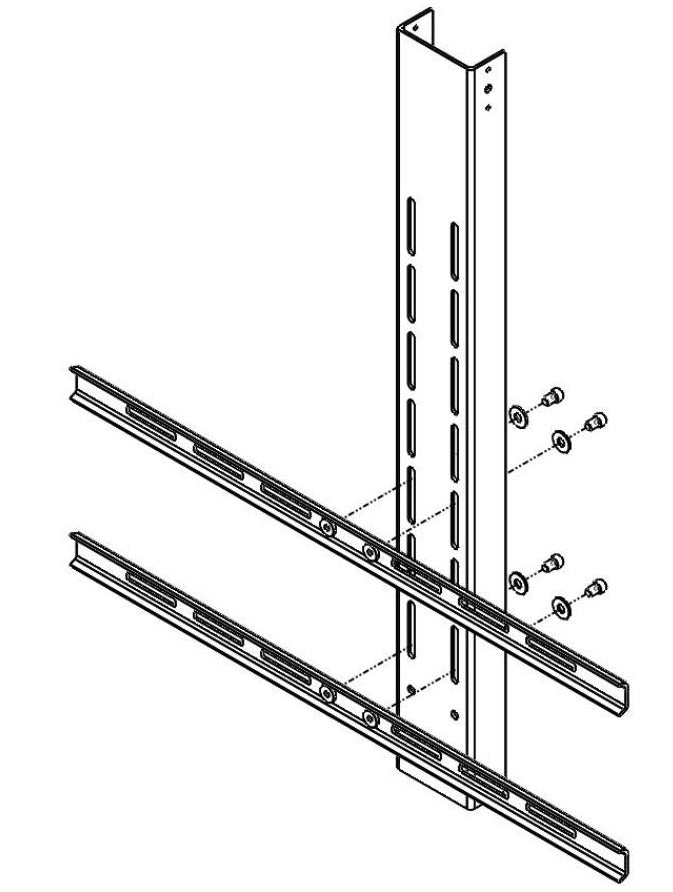 Drop down TV lift system connection