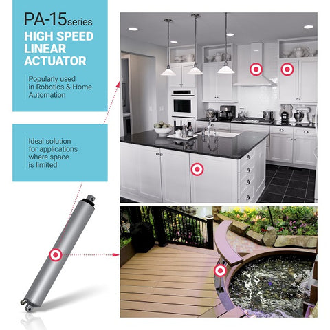 Where high-speed actuator PA-15 can be used in automated home