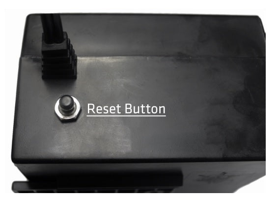 Reset button on control box