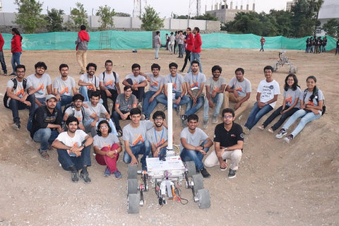 Photo of the team of students from the Centre For Innovation at IIT Madras