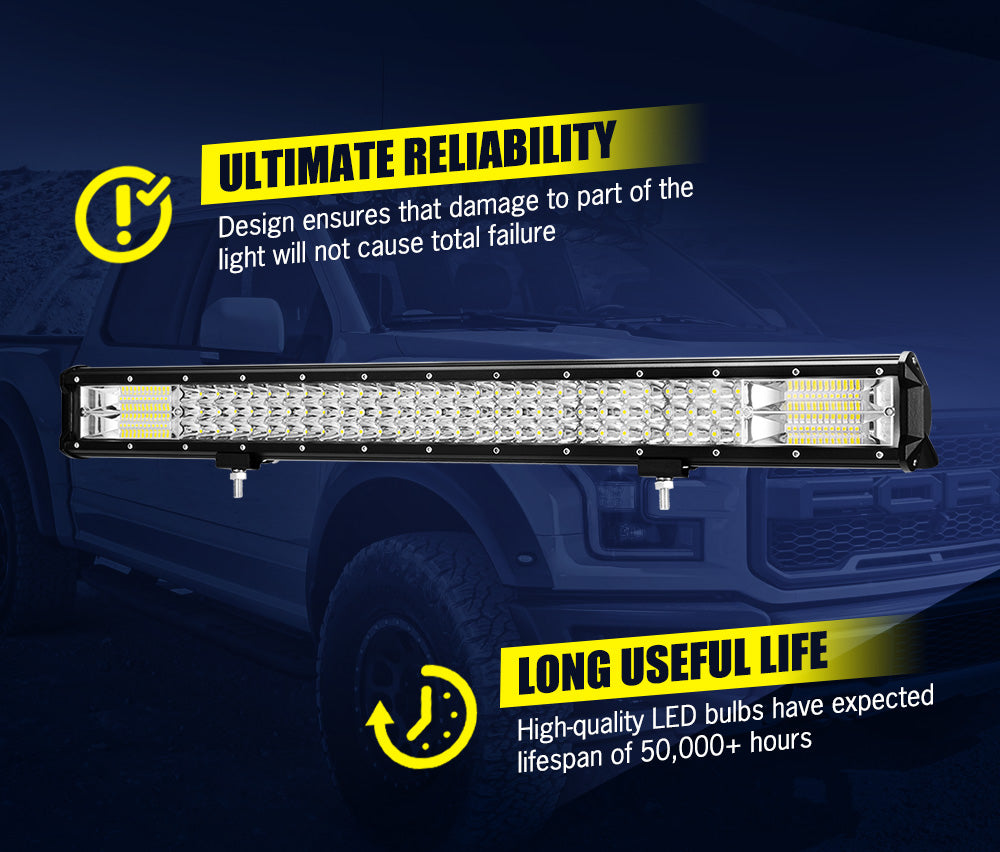 LIGHTFOX 28inch Led Light Bar 1 Lux @ 580M IP68 132000 Lumens - Sunyee