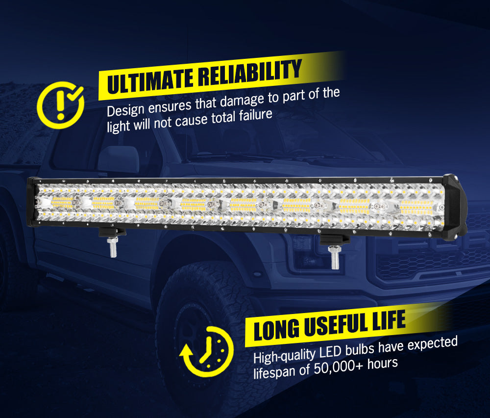 LIGHTFOX 23inch Led Light Bar 1 Lux @ 690M IP68 168000 Lumens - Sunyee