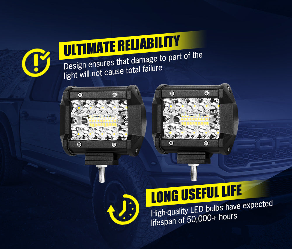 LIGHTFOX 4inch Led Light Bar 1 Lux @ 150M IP68 20000 Lumens Per Pair - Sunyee