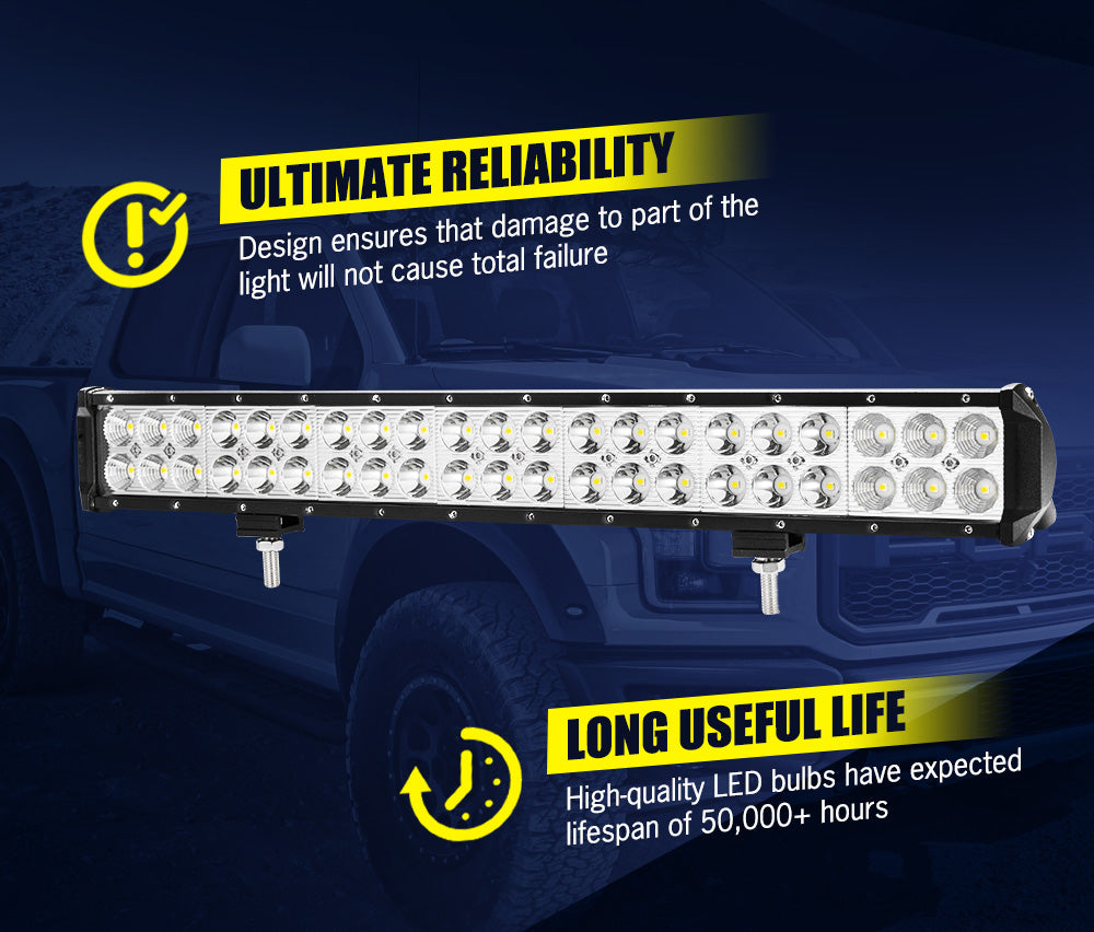 LIGHTFOX 20inch HID Driving Light 1 Lux @ 520M IP68 49800 Lumens - Sunyee