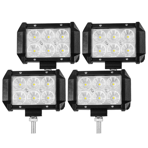 LIGHTFOX 4inch Led Light Bar 1 Lux @ 100M IP68 6000 Lumens Per Pair - Sunyee