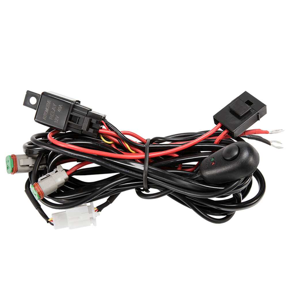 2 Way High Beam Wiring Loom Harness 12v 40a Relay Switch Kit Driving
