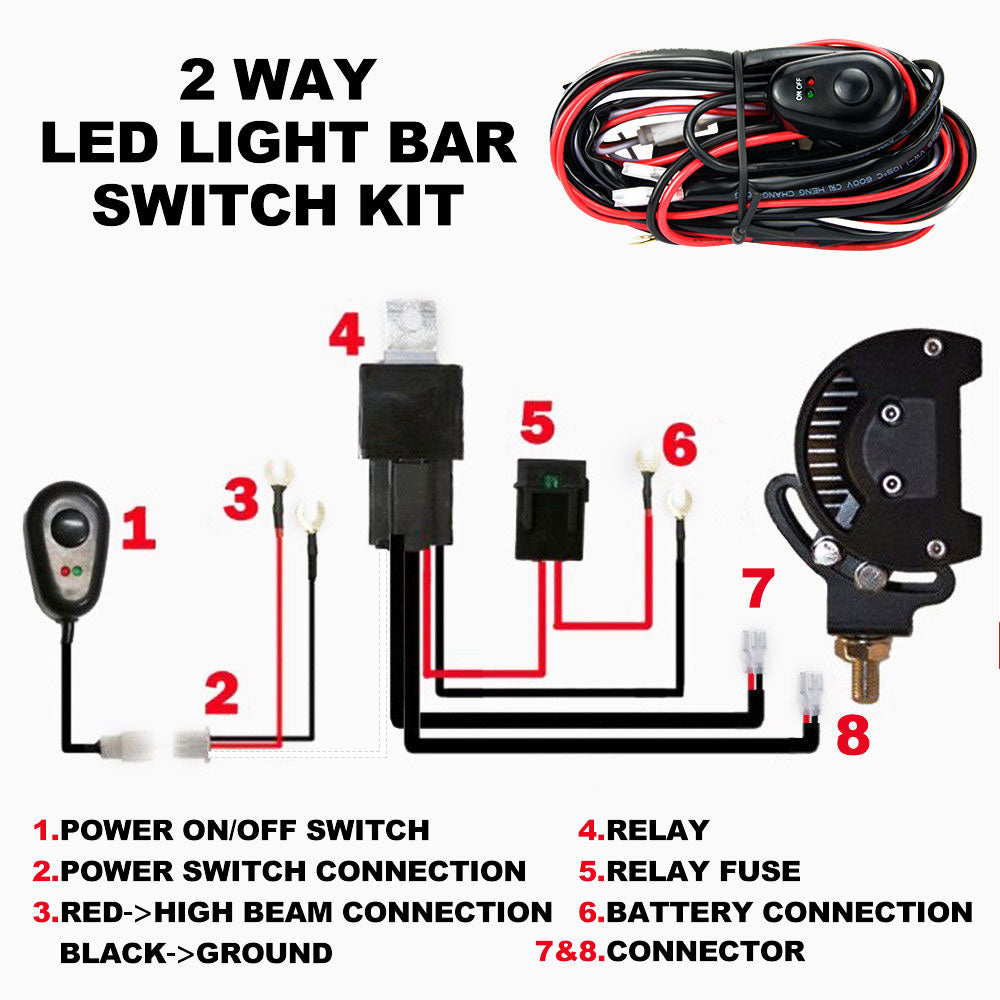 LED HID Wiring Loom Harness Spot Work Driving light bar 12V ... Relay For Hid Wiring on