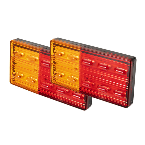 2x LED Trailer Lights Tail Lamp Stop Indicator 12V ADR 4WD 4X4 UTE - Sunyee
