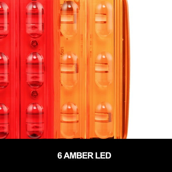 2X Square LED Trailer Tail Trailer Light Stop Indicator LightsΝmber