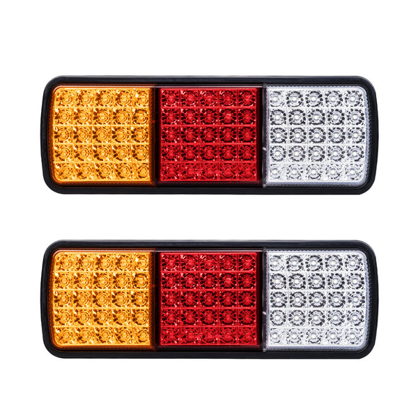 LightFox Pair LED Tail Lights Stop Indicator Reverse Lamp 12v - Sunyee